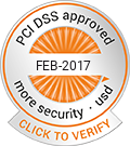 PCI DSS approved seal