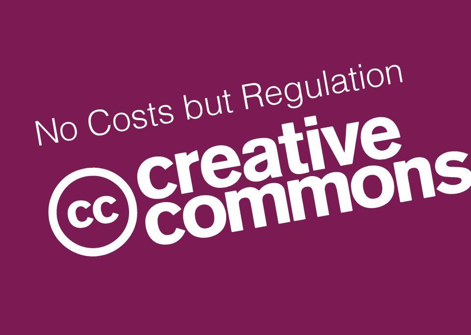 creative commons logo purple background