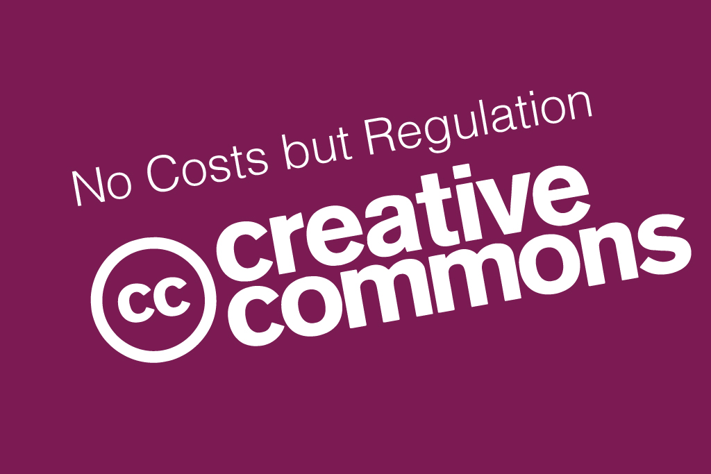 creative commons logo purple background