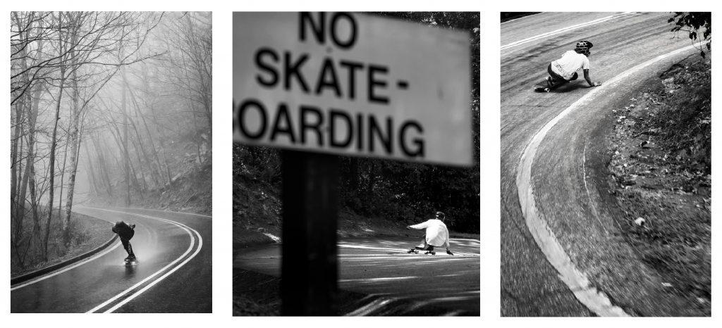 skateboarding photography black and white