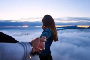 girlfriend brings you everywhere above cloud