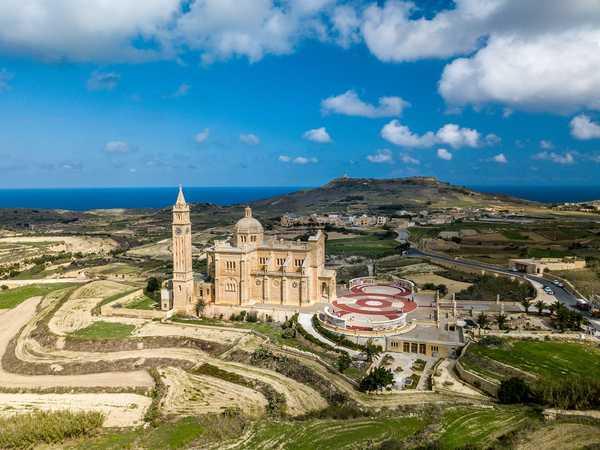 Gozo aerial landscape shot