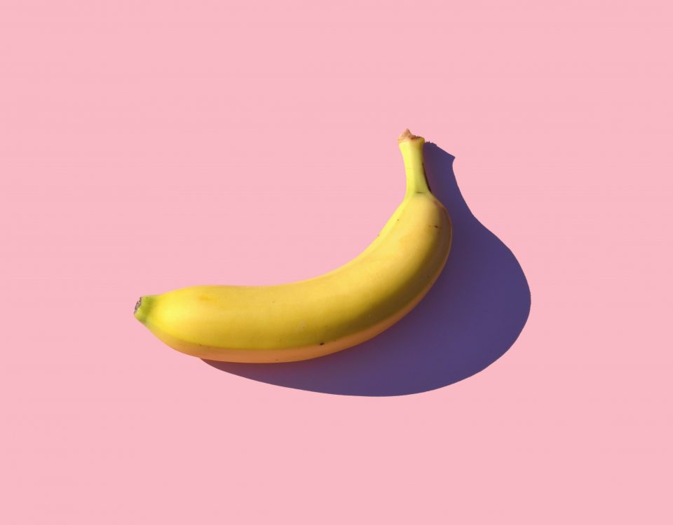 banana with pink background mike dorner