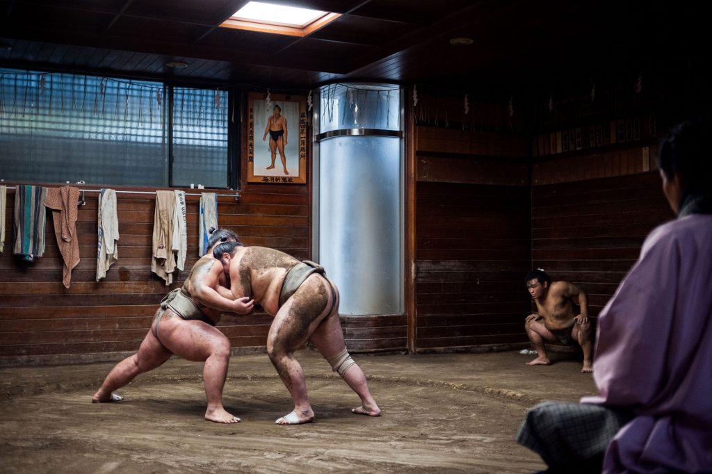 Sumo Ringers in Japan