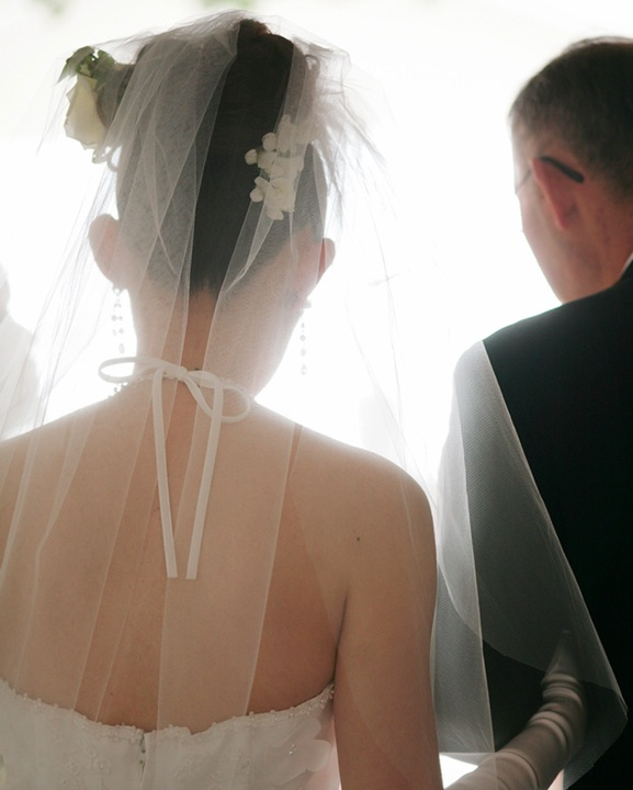 Wedding photo of the bride