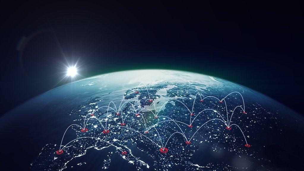 Weltkugel für erstes Urheberrechtsregister weltweit